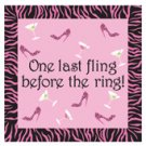 Bachelorette last fling cocktail napkin party game - pack of 24