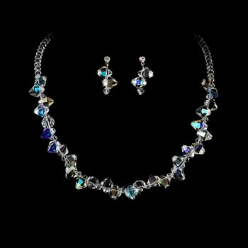 Swarovski Crystal Necklace & Earring Set NE 8257
