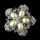 Silver Pearl Brooch 117