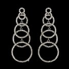 Silver Clear Earring Set 1063