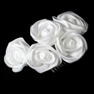 Bridal Hair Comb 4647 White