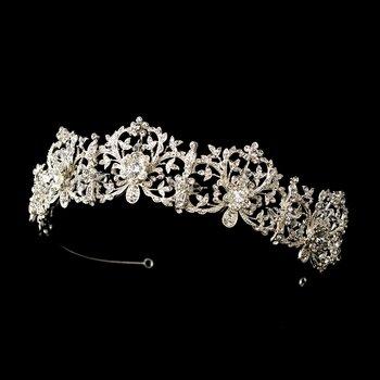 Beautiful Royal Bridal Tiara HP 630 Silver