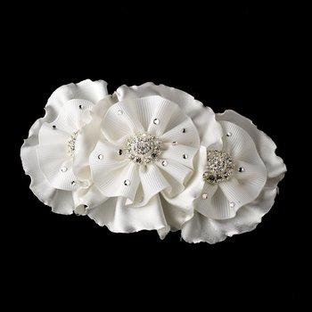 Beautiful Ruffle Vintage Inspired Bridal Hair Clip 472
