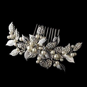 Rhinestone & Pealr Vintage Bridal Comb 599