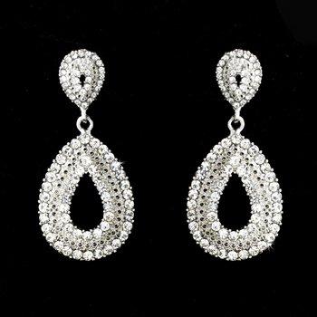 Silver Clear Earring Set 1056