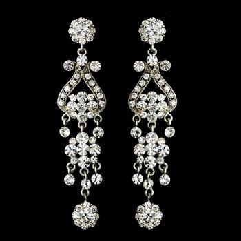 Silver Clear Earring Set 1033