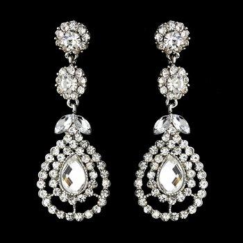 Silver Clear Earring Set 1328