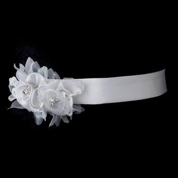 White Bridal Belt 30