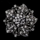 Silver Flower Brooch 156