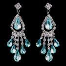 Silver Aqua Chandelier Earrings 24792