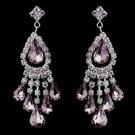 Silver Light Amethyst Chandelier Earrings 24792