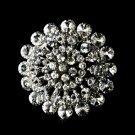 Striking Silver Clear Crystal Brooch 59