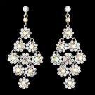 Glamorous Silver & AB Chandelier Earrings