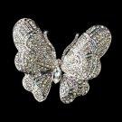 Silver AB Butterfly Barrette 1024