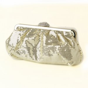 Gold Sequin & Rhinestone Evening Bag 320