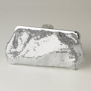 Silver Sequin & Rhinestone Evening Bag 320