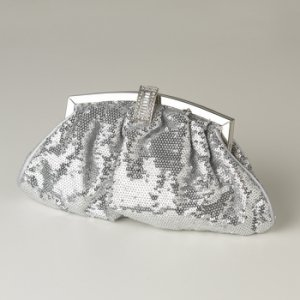 Silver Sequin & Rhinestone Evening Bag 321