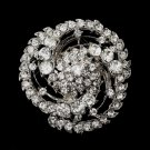 Antique Silver Clear Brooch 190