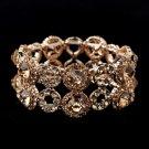 Rose Gold Crystal Stretch Bracelet 8658