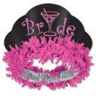 Bride Glittered Paper Tiara