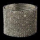 15 Row Silver Clear Rhinestone Stretch Bracelet 4017