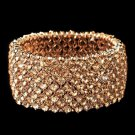 Rose Gold Stretch Rhinestone Bracelet 1330