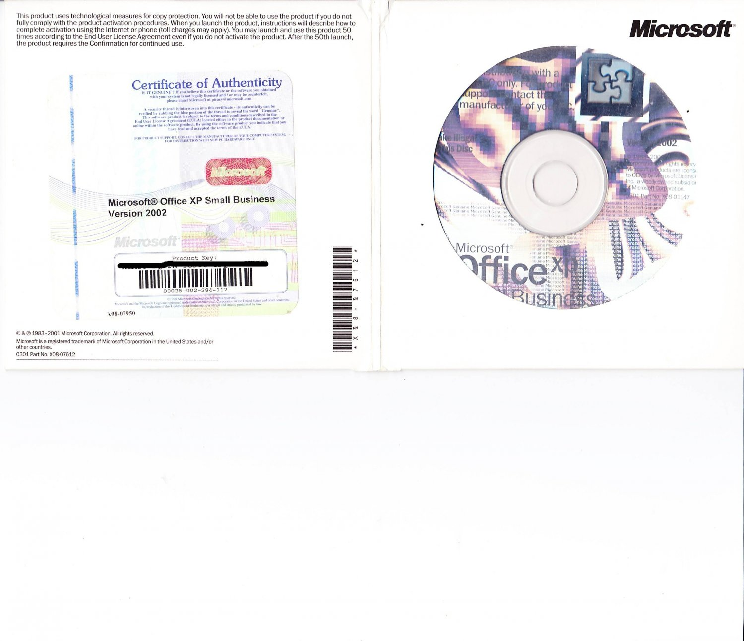 Microsoft Office 2002 Small Business Edition OEM