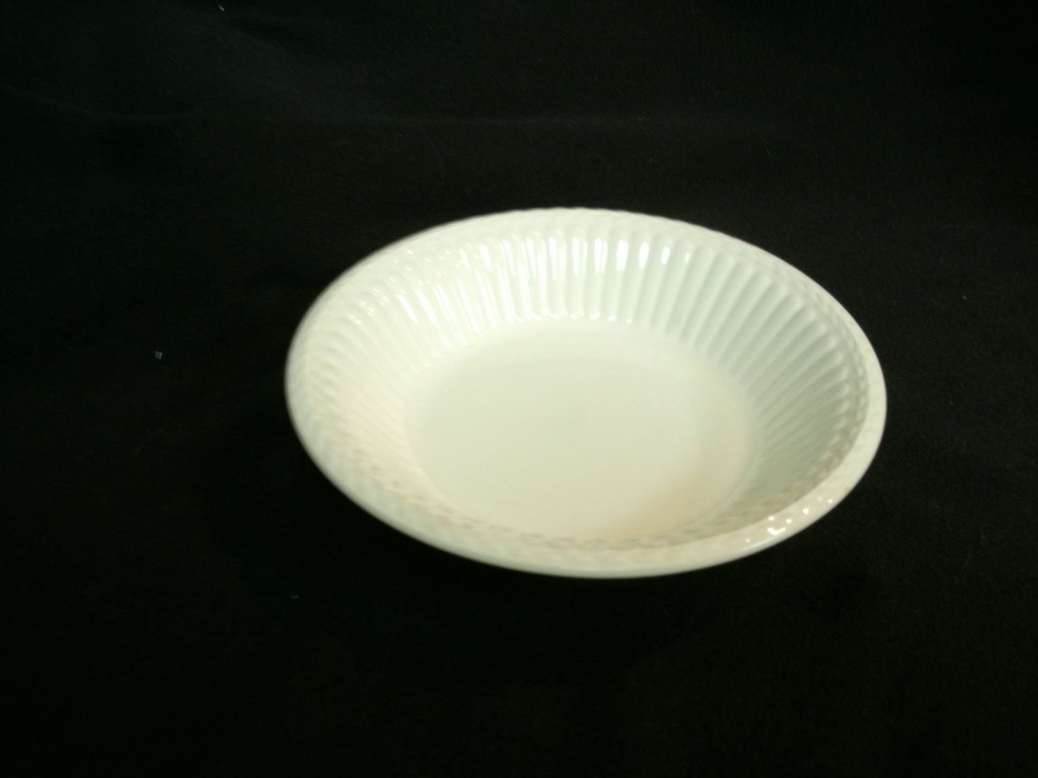 Wedgwood China Dessert Bowl Edme Pattern 5 1/4 Inches Off White Color