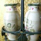 La Toscana Oil and Vinegar Bottles With Stand Pamela Gladding Fruit Design