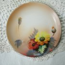 Vintage Hand Painted Floral Plate Noritake Morimura 6 1/4 Inches 1920's