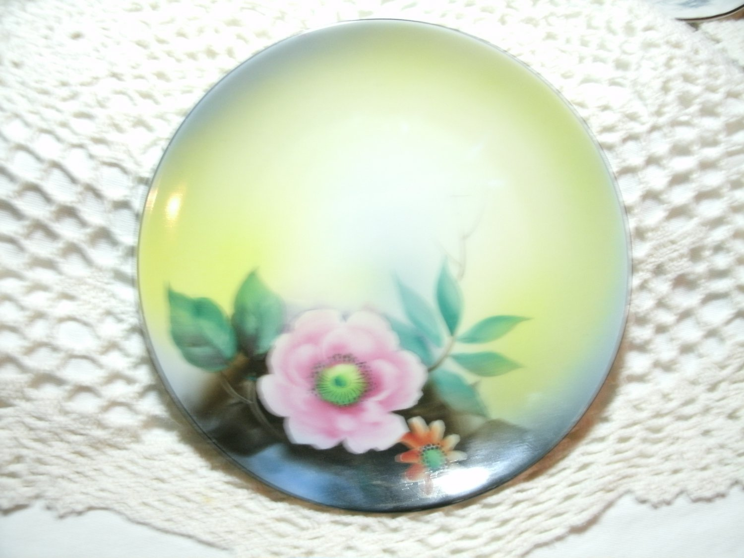 Noritake Morimura Hand Painted Floral Plate 6 1/4 Inches 1920's Vintage