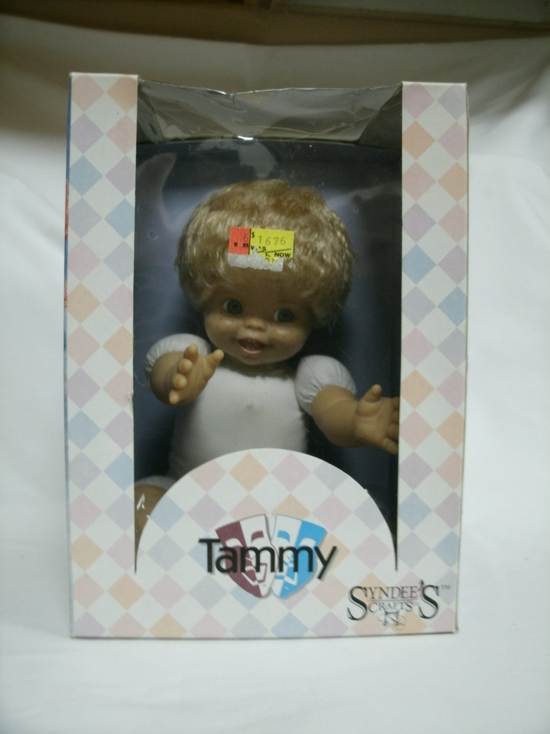 Syndee's Tammy Heirloom Craft Doll 7 1/2 Inches Sitting Cloth Body 1990's