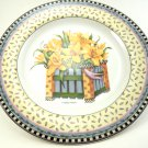 Debbie Mumm's Yellow Daffodils Spring Bouquet Salad Plate 8 1/4 Inches Sakura 1999