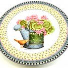 Salad Plate Debbie Mumm's Spring Bouquet Watering Can Design 8 1/4 inches Sakura 1999