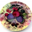 Porcelain Dessert Plate Plums Design 7. 5 Inch By Godinger Home Essentials and Beyond