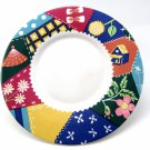 Saucer in Crazy Quilt Number 103 Design 6 1/4 Inches International Tableworks Quilt Design