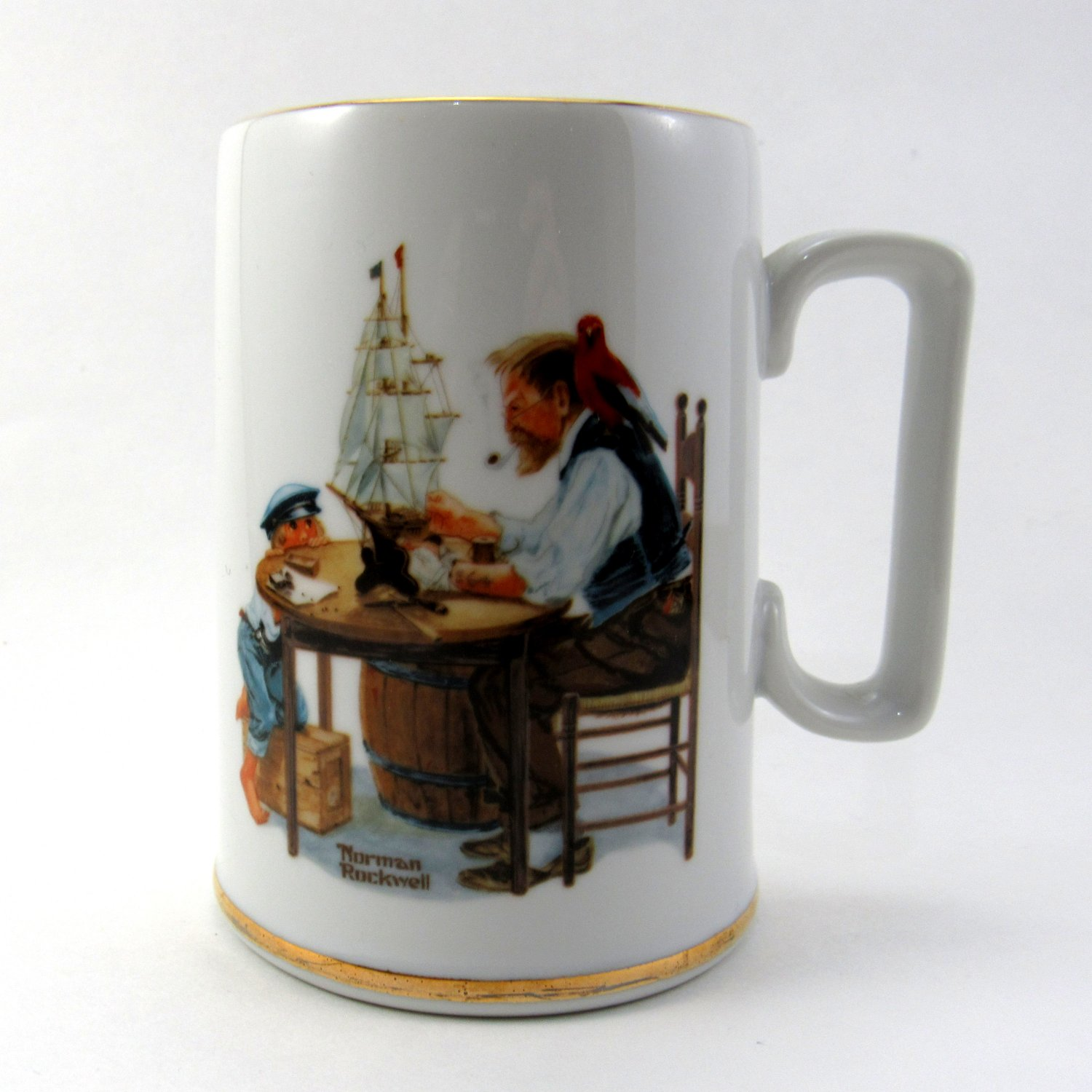 "Norman Rockwell Museum Collection Mug Named ""For A Good Boy"" 1986 4 1/2 Inches"