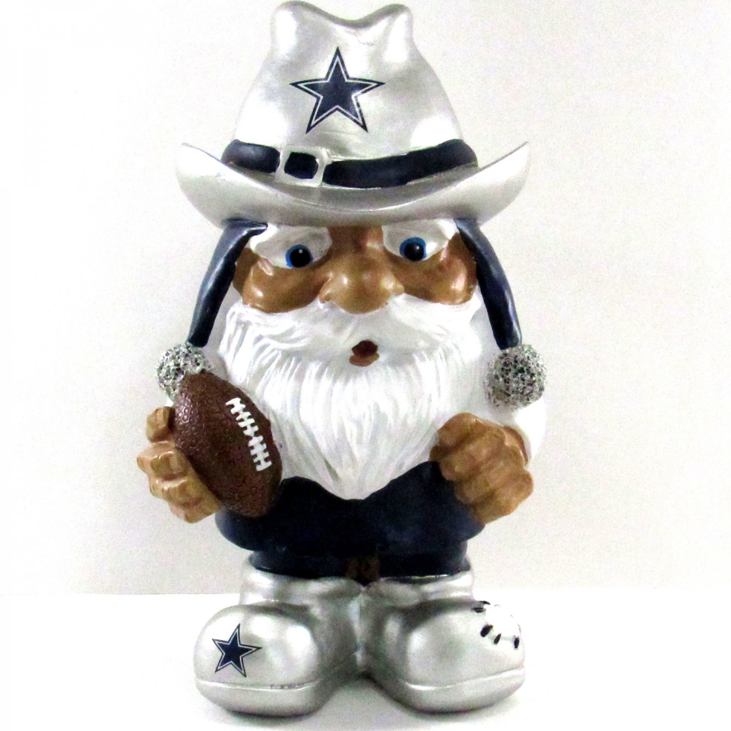 Garden Gnome Dallas Cowboy's Mad Hatter Series 8 Inches Silver Cowboy Hat Forever Collectibles