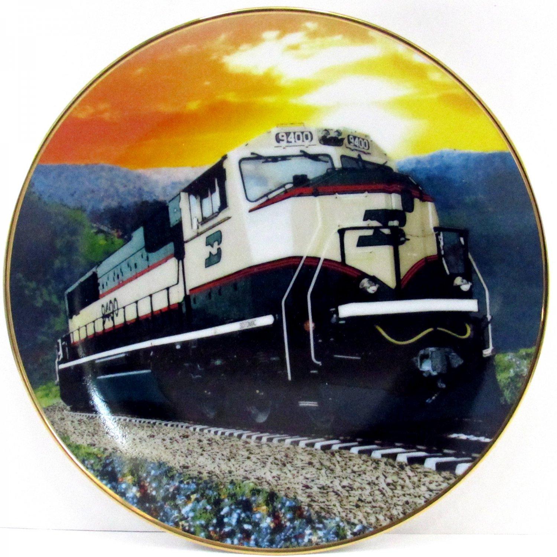 "Burlington Northern Railroad 8 1/4"" Plate Limited Edition Commemorative For Locomotive SD70MAC 1994"