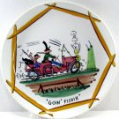 Hillbilly Series 9 Inch Plate Goin Fishin Italian Hand Painted Artist Gene Paull for TMJ&S, RARE