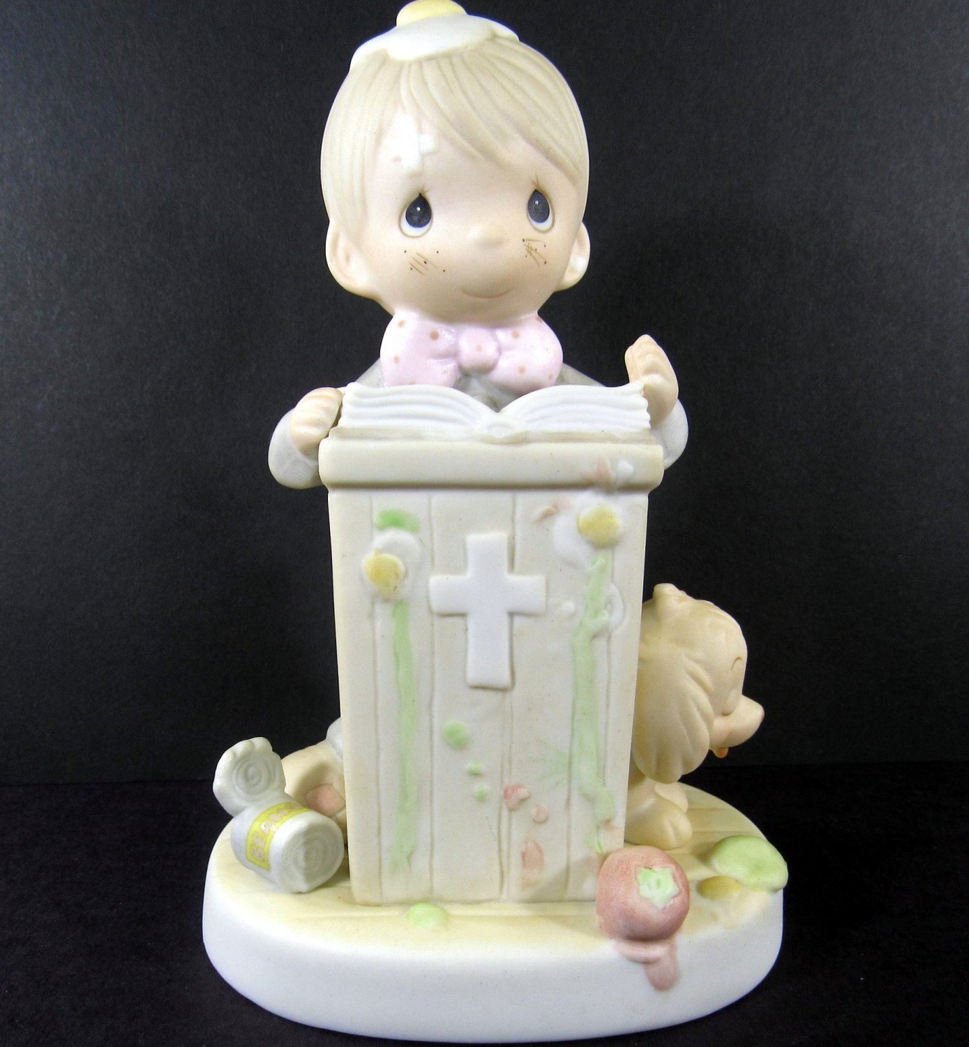 Precious Moments If God Be For Us Who Can Be Against Us Figurine 1982 Enesco E-9285 Porcelain