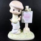 Precious Moments Loving You Dear Valentine Boy Figurine 1987 Enesco PM873 Artist Samuel Butcher