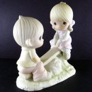Precious Moments Love Lifted Me Figurine 1978 Enesco Item E-1375A by Jonathan and David