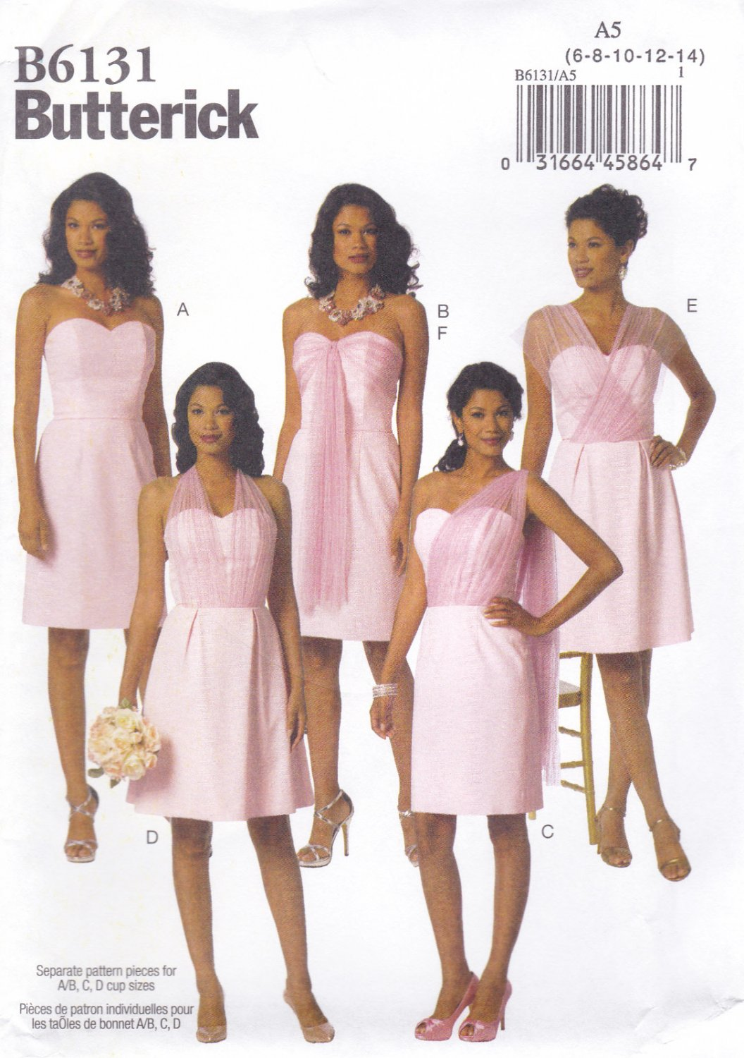 9547a7fc824 Butterick B6131 6131 Misses Dresses Sash Strapless Sewing Pattern  Semi-Formal Sizes 6-8-10-12-14
