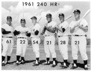 NEW YORK YANKEES- MANTLE, MARIS, 1961 MURDERERS ROW