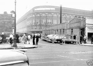 BROOKLYN DODGERS- EBBETS FIELD - 1955 STREET VIEW
