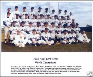 NEW YORK METS - 1969 COLOR TEAM PHOTO - SHEA STADIUM