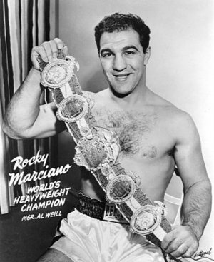 BOXING- ROCKY MARCIANO- WORLD'S HEAVYWEIGHT CHAMPION