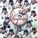 NEW YORK YANKEES 2001 AL CHAMPIONS COLLAGE