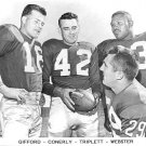 NEW YORK GIANTS- GIFFFORD - CONERLY - TRIPLETT- WEBSTER